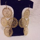 "LIGHTWEIGHTLADIES GOLD SNOWFLAKE STYLE HANGING 3"" EARRINGS...SO COMFORTABLE"