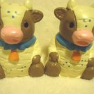 VINTAGE COW SALT & PEPPER SHAKERS....GREAT COLORING & DETAIL