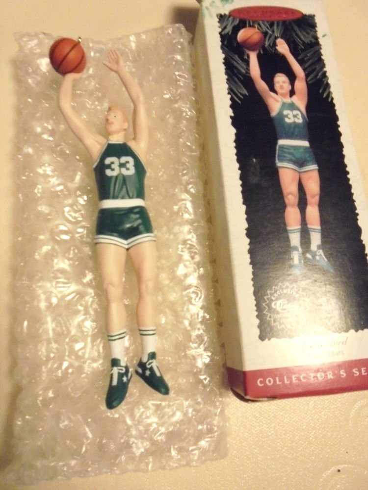 LARRY BIRD---1996 HALLMARTK ORNAMENT HOOP STARS #2 BASKETBALL...NO CARD