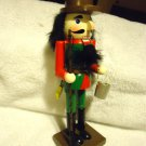 "10"" WOODEN  NUTCRACKER WOODEN...HOLDING FISH/BUCKET/POLE...RED/GREEN/BROWN"