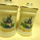 VINTAGE WALT DISNEY WORLD PORCELAIN SALT & PEPPER SHAKERS....