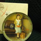 "NORMAN ROCKWELL 1985 ""A YOUNG GIRLS DREAM""  KNOWLES COLLECTOR PLATE  COA & BOX"