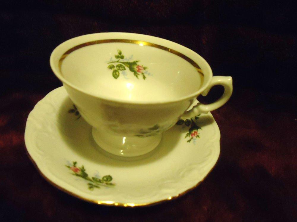 ROYAL KENT POLAND BAVARIAN ROSE TEA CUP & SAUCER .....GREAT CONDITION
