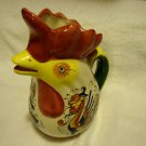 ROOSTER PITCHER WHIMSICAL CHICKENBY BOSTON WAREHOUSE...COLORFUL