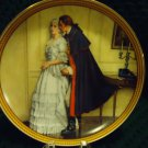 "NORMAN ROCKWELL COLLECTORS PLATE ""THE UNEXPECTED PROPOSAL""  1986"
