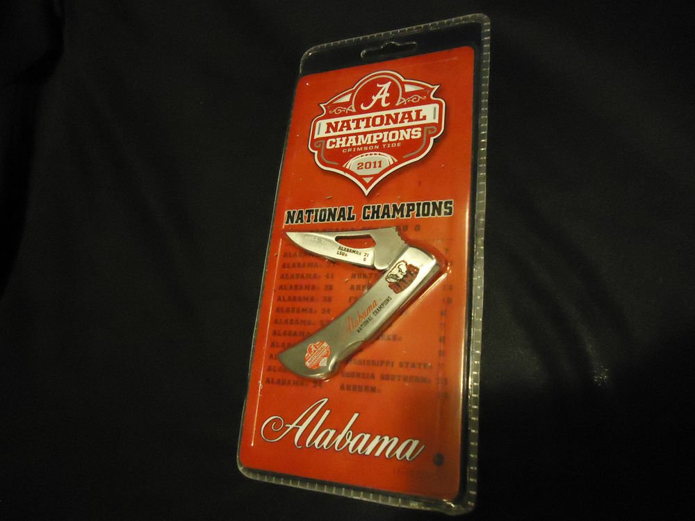 ALABAMA CRIMSON TIDE 2011 NATIONAL CHAMPIONS  KNIFE by FROST CUTLERY