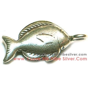 5 Thai Fish Charms By I Love Hill Tribe Silver