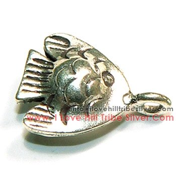 5 Fish Charms By I Love Hill Tribe Silver