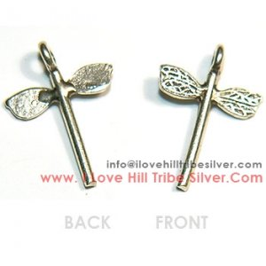 10 Dragonfly Charms By I Love Hill Tribe Silver