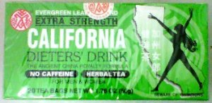EVERGREEN LEAVES BRAND California Extra Strength Dieters' Tea 40 Bag