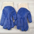 24 Pairs All Purpose BLUE LATEX RUBBER COATED PALM Work Safety Gloves