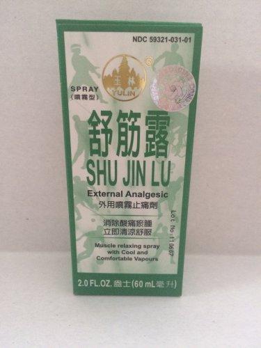 Shu Jin Lu External Analgesic Spray 2.0 Oz - 60 ml (pack of 12)