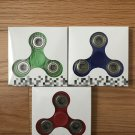 Tri-Spinner Fidget Toy Ceramic EDC Hand Finger Spinner Desk Focus Red,Green,Blue.Wholesale