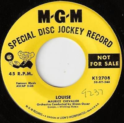 1950's MAURICE CHEVALIER 45 Louise - PROMO Ex to M-
