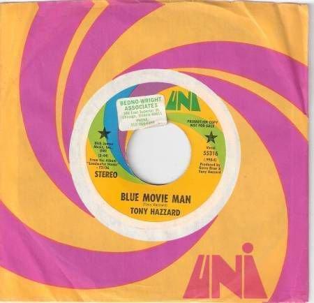 70's TONY HAZZARD Promo 45 Blue Movie Man - Mint Minus
