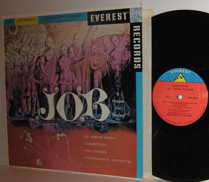 Ralph Vaughan Williams JOB A Masque For Dancing LP Sir Adrian Boult London PO M-