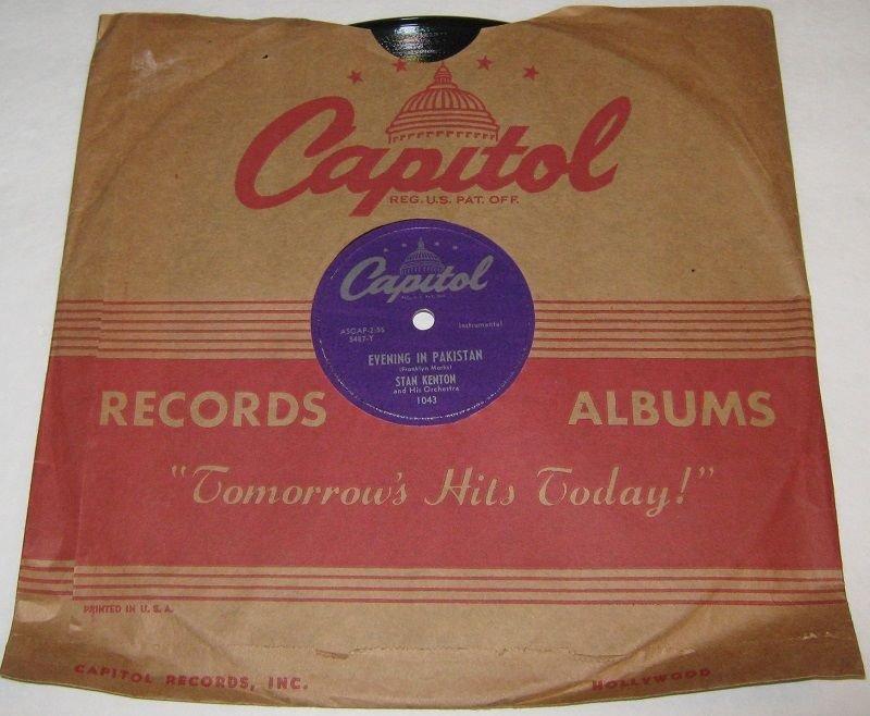 1950 STAN KENTON 78 rpm Opus In Pastels / Love For Sale Capitol 1625
