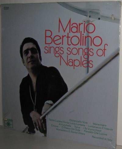 60's MARIO BERTOLINO LP Songs Of Naples - Still SEALED