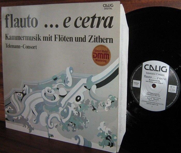 TELEMANN CONSORT LP flauto ..e cetra Kammermusik mit Floten und Zithern M- CALIG