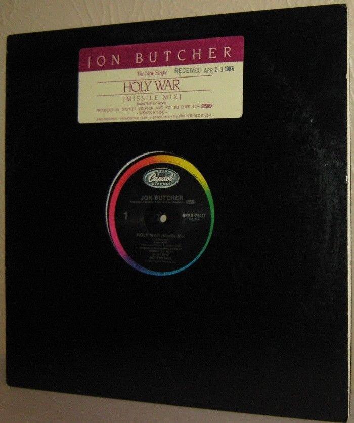 """'87 JON BUTCHER 12"""" Holy War (Missle Mix) Near Mint Vinyl PROMO"""