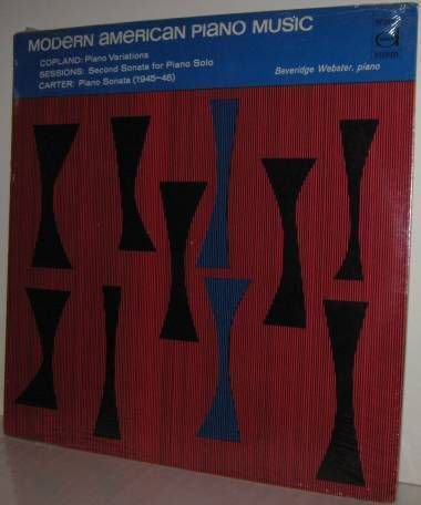 COPLAND etc Modern American Piano WEBSTER LP -  SEALED