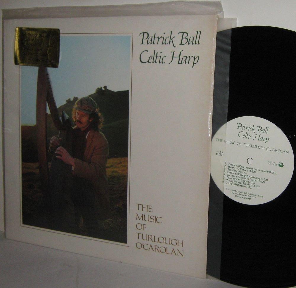 '83 PATRICK BALL CELTIC HARP LP The Music Of Turlough O'Carolan