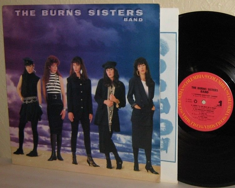 1986 The BURNS SISTERS BAND self-titled LP Ex / Mint Minus PROMO Rare and HTF