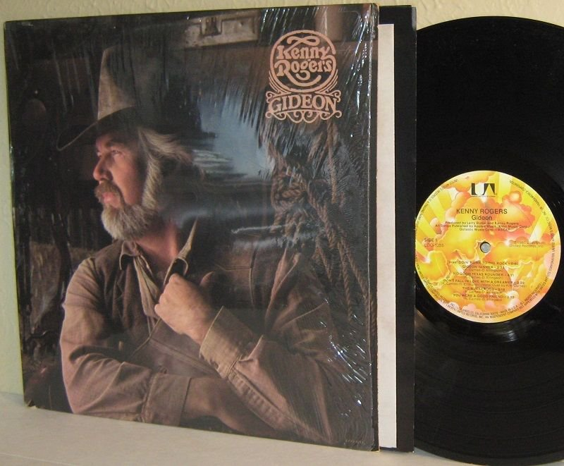 1980 KENNY ROGERS LP Gideon in Shrinkwrap with Poster / Lyrics Insert