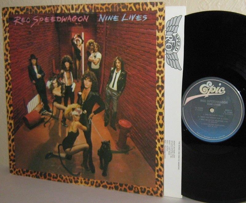 1979 REO SPEEDWAGON LP Nine Lives - Ex Vinyl - Promo