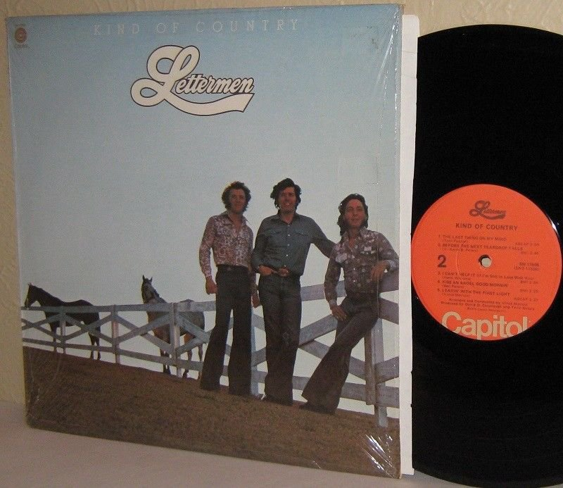 1976 THE LETTERMEN LP Kind Of Country MINT MINUS in Shrinkwrap