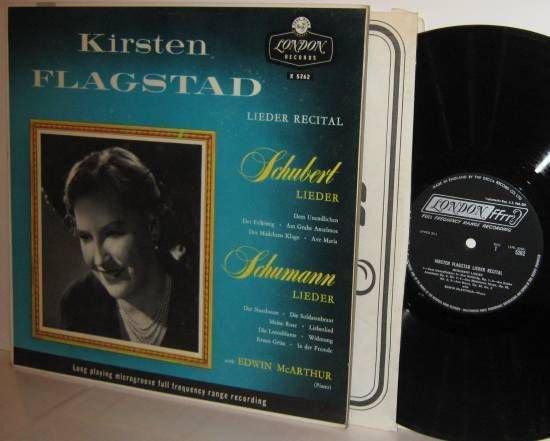 Lieder Schubert / Schumann KIRSTEN FLAGSTAD Leider Recital London Microgroove