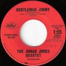 JONAH JONES QUARTET 45 Gentleman Jimmy RED LABEL PROMO