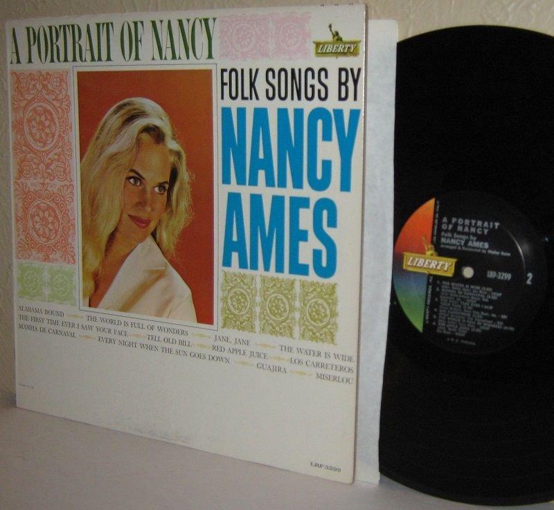 1963 Folk Songs By NANCY AMES LP A Portrait Of Nancy Ex / Ex MONO