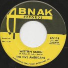 "Two 1967 7"" 45rpm singles by THE FIVE AMERICANS Western Union & Sound Of Love"