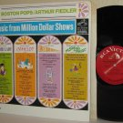 1967 ARTHUR FIEDLER BOSTON POPS LP Music From Million Dollar Shows Mint Minus
