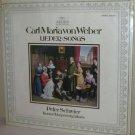 CM von WEBER Lieder SCHREIER, KONRAD RAGOSSNIG Guitar . . SEALED ARCHIV LP
