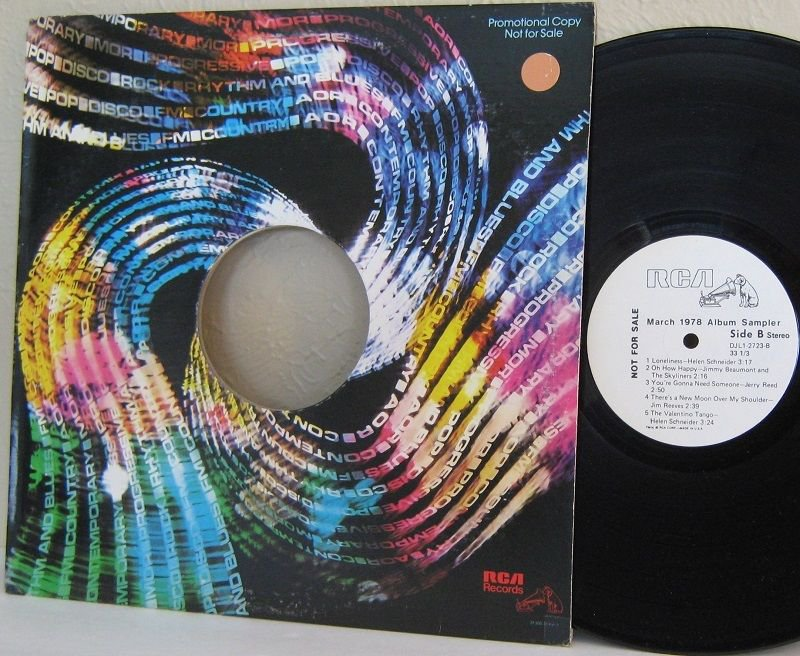 Various Artists �� March 1978 RCA Promo Only Album Sampler LP VG+ / Ex