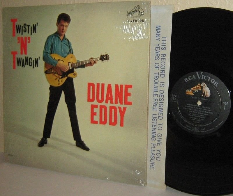 1962 DUANE EDDY LP Twistin' 'n' Twangin' in SHRINKWRAP M-/VG Twangy Guitar MONO