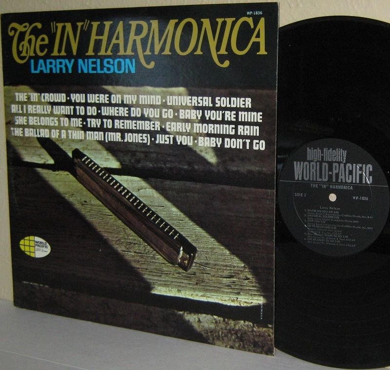 "1965 LARRY NELSON (Larry Knechtel) The ""In"" Harmonica MONO Ex / VG Hard To Find"