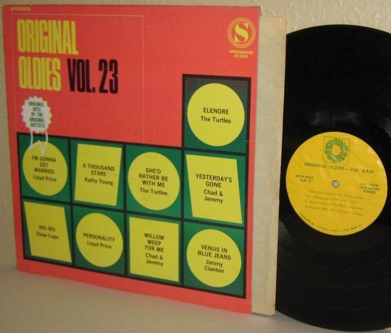 Various Artists LP: Original Oldies Vol. 23 Turtles Kathy Young Dixie Cups