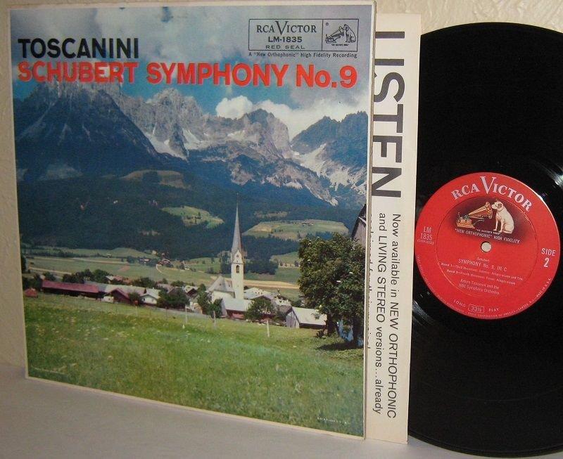 LM-1835 SCHUBERT Symphony No.9 in C TOSCANINI NBC SO LP * NEAR MINT Vinyl