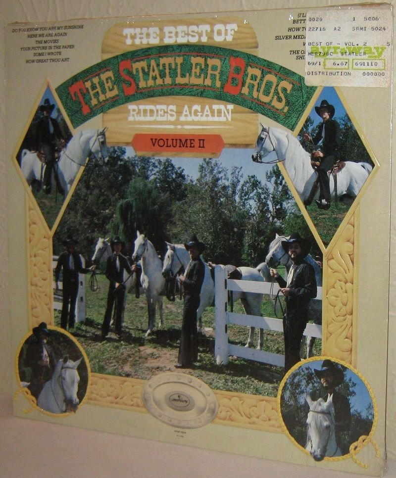 '79 STATLER BROTHERS LP Best Of The Statler Bros Rides Again Vol II STILL SEALED