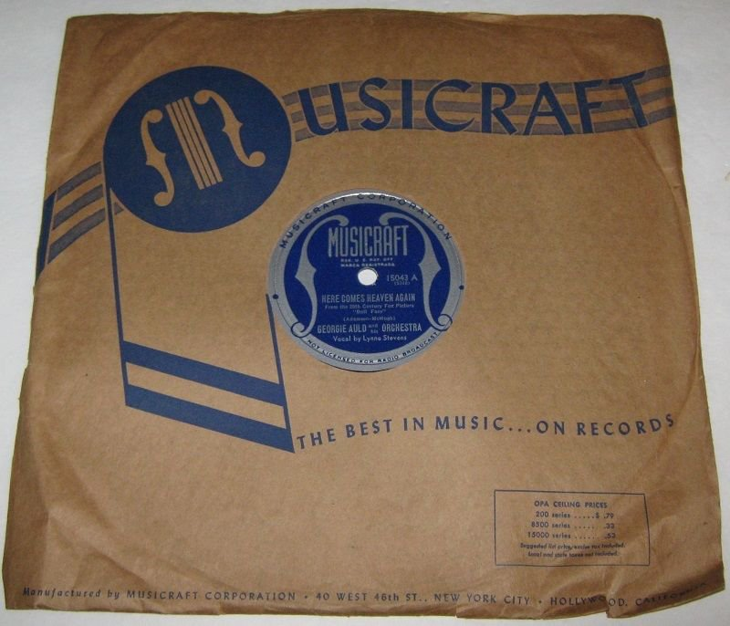 1945 GEORGIE AULD 78 rpm Here Comes Heaven Again / Air Mail Special