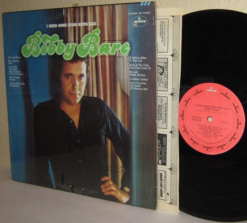 1971 BOBBY BARE LP I Need Some Good News Bad Ex / Ex in Shrinkwrap
