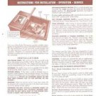 1948 WARDS AIRLINE RADIO (Console) Install OP Service Manual Warranty Cert etc.