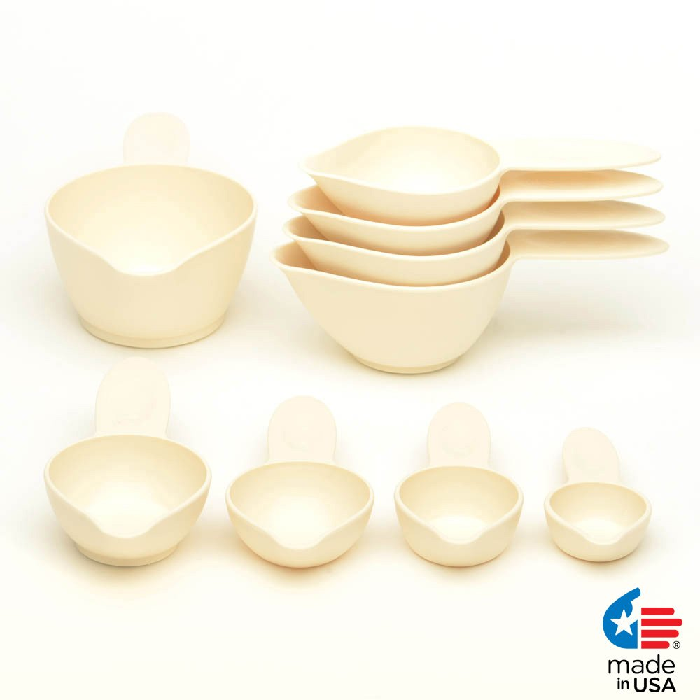 POURfect Measuring Cup Set 9pc Almond Cream Made in USA