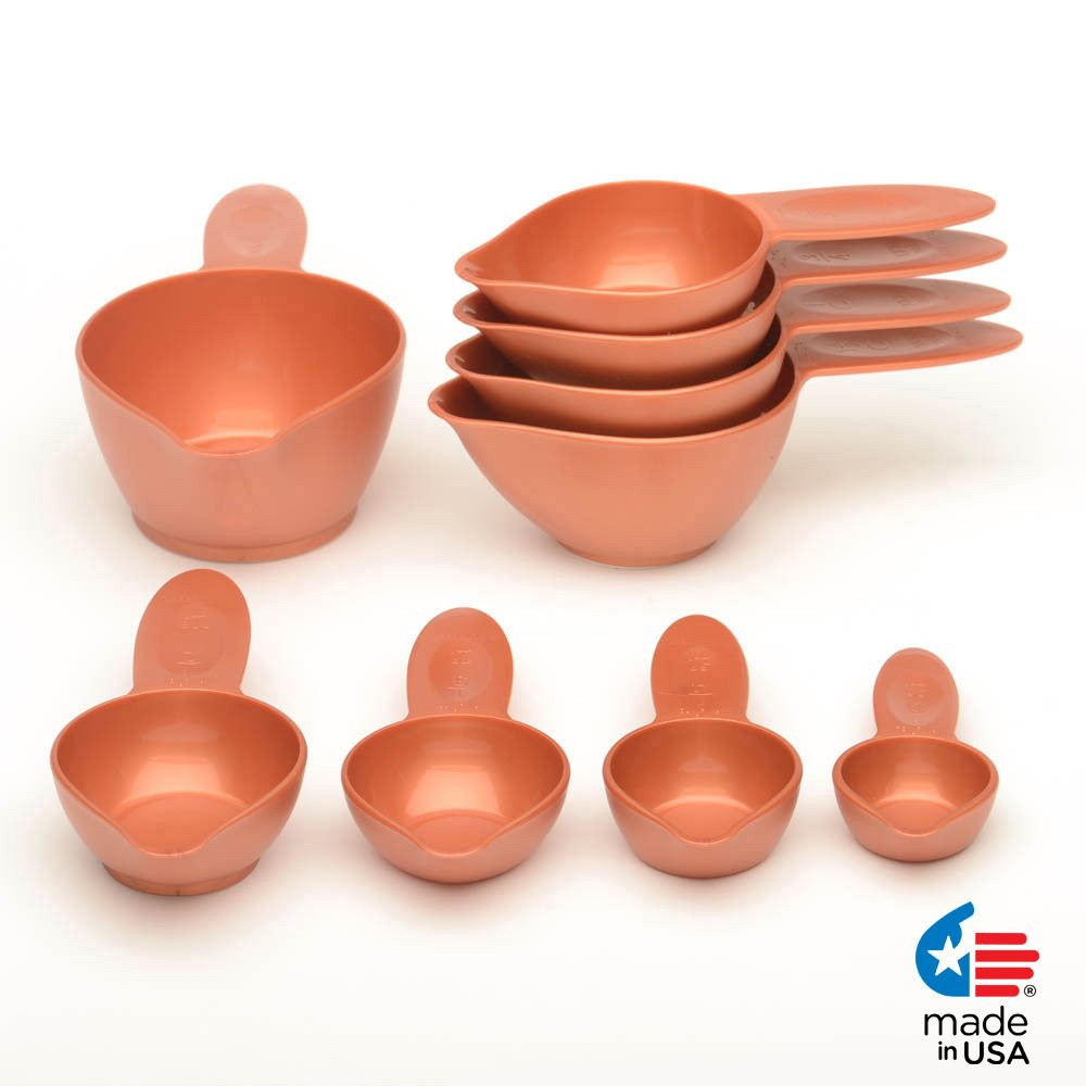 POURfect Measuring Cup Set 9pc Satin Copper Made in USA