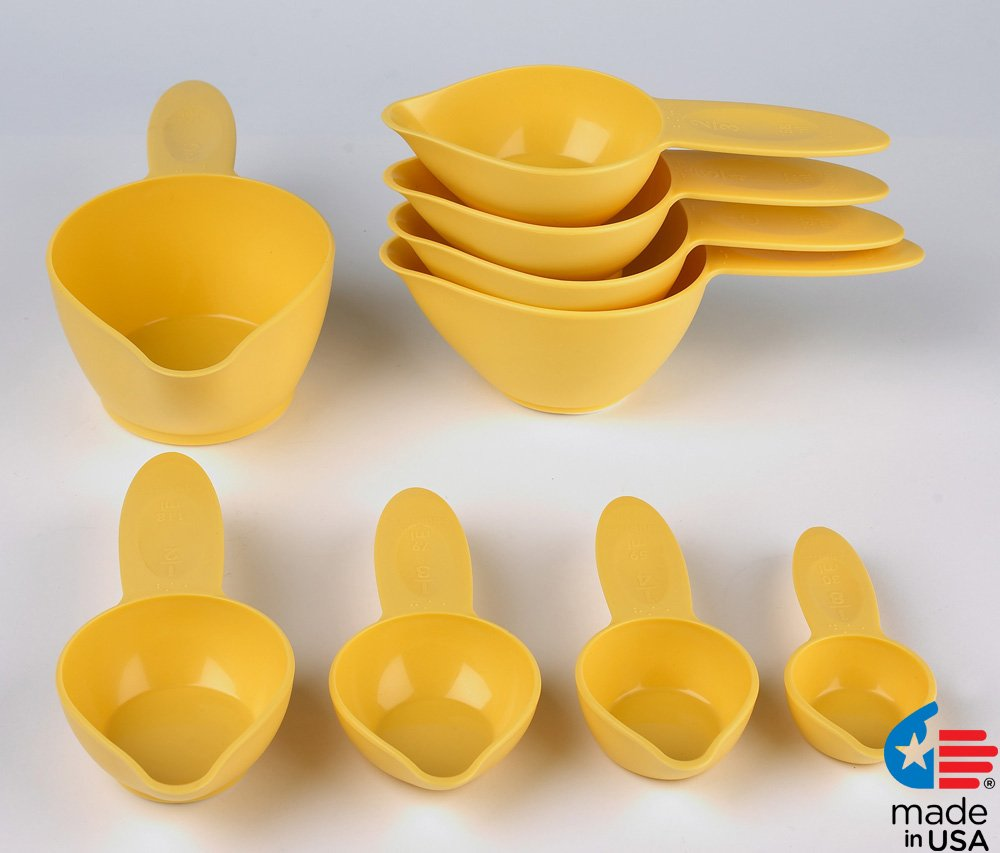 POURfect Measuring Cup Set 9pc Yellow Pepper Made in USA