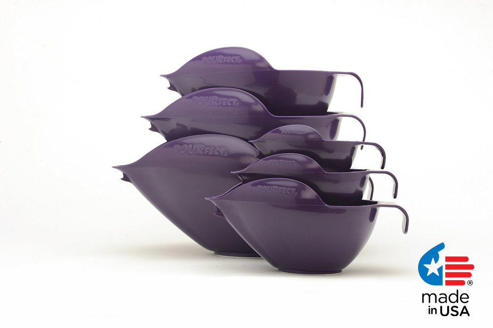 POURfect Mixing Bowls 1015 - 1-2-4-6-8-12 Cup Bowl Set Dark Plum/Purple Made in USA