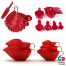 POURfect Mixing Bowls, Measuring Spoons, Measuring Cups Empire Red Made in USA
